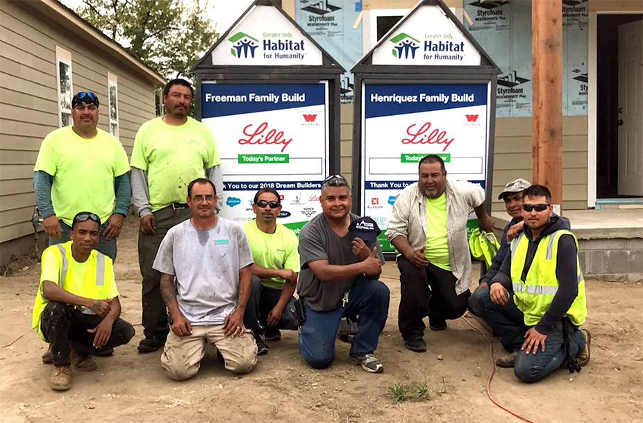 R.Adams Roofing helped build two houses for Habitat for Humanity